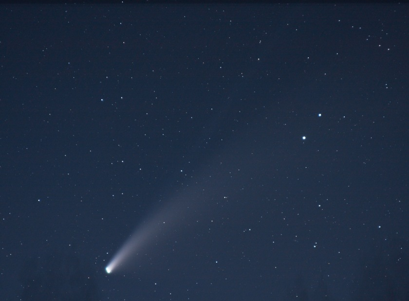 Comet Neowise 135mm Canon Lens Canon Camera 16 Light Frames and 13 Dark Frames CR2 LR PS 19 July 2020