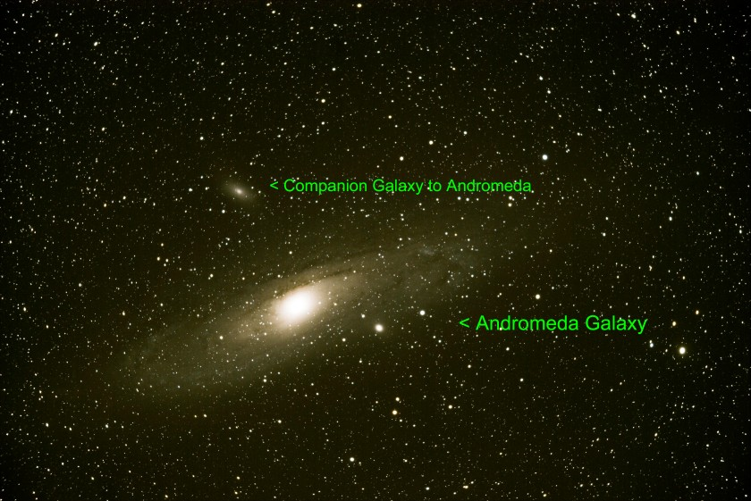 Galaxy Andromeda M31 ZS LR PS 95 Frames ISO6400 15min. Text 21 Sept 2019